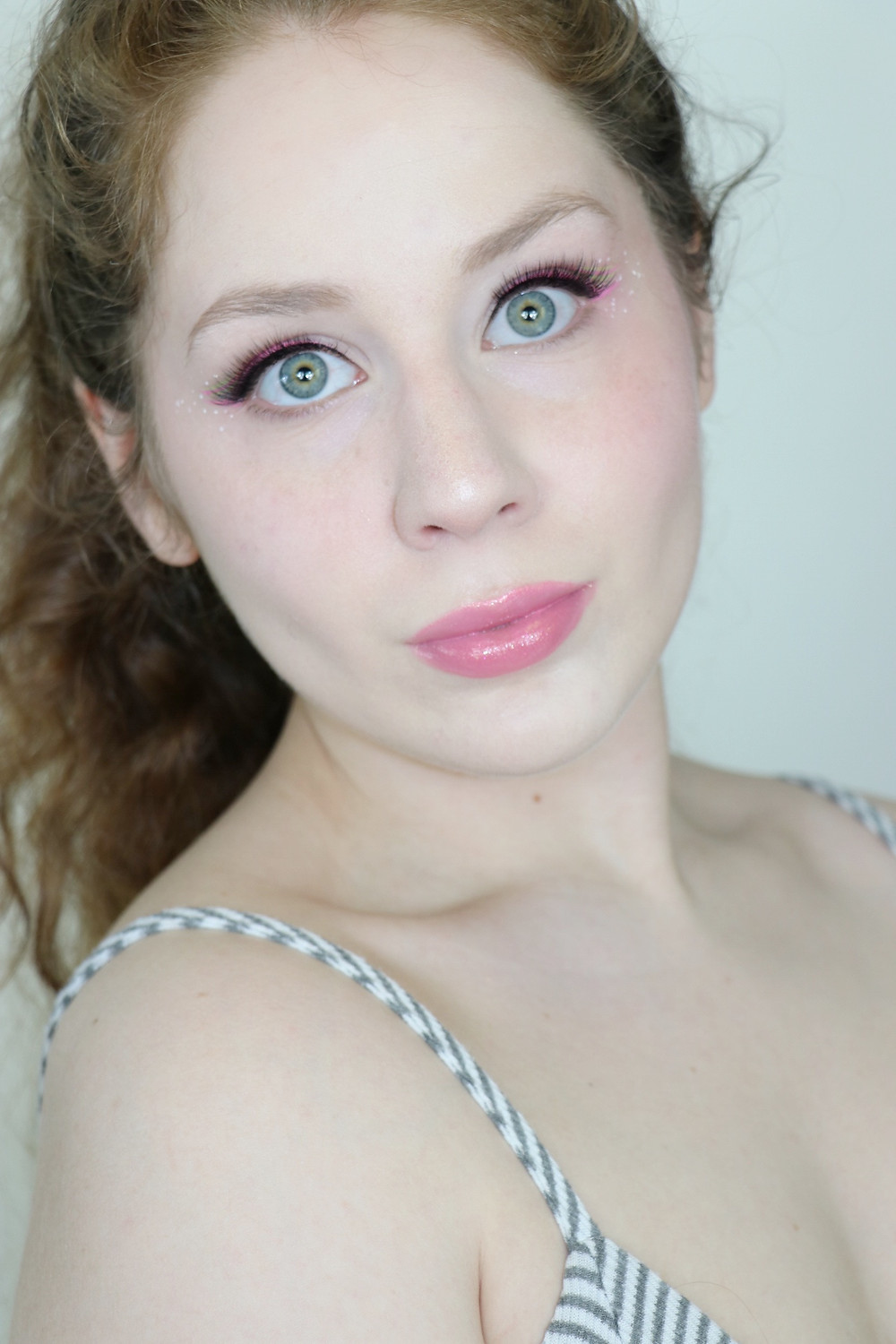 NYX Vivid Brights Graphic Eyeliner Pink and Green Summer Makeup Tutorial 2020 | Lillee Jean