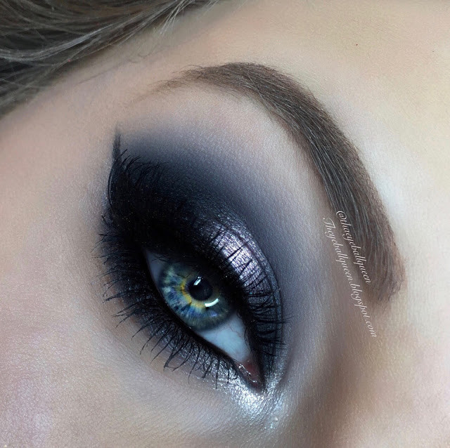 Shimmery Powdered Blue Halo Eye Valentines Day Makeup Tutorial 2016 | Lillee Jean