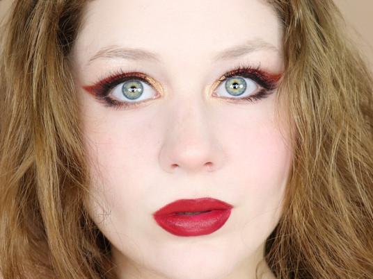 L'Oreal Brilliant Eyes Metallic FIRE Copper GLAM Autumn Makeup Tutorial 2020 | Lillee Jean