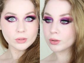 Urban Decay Pop Queen Editorial Glittery Warm Purple Makeup Tutorial 2021 | Lillee Jean