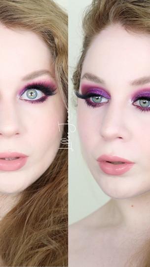 Urban Decay Pop Queen Editorial Glittery Warm Purple Makeup Tutorial 2021   Lillee Jean