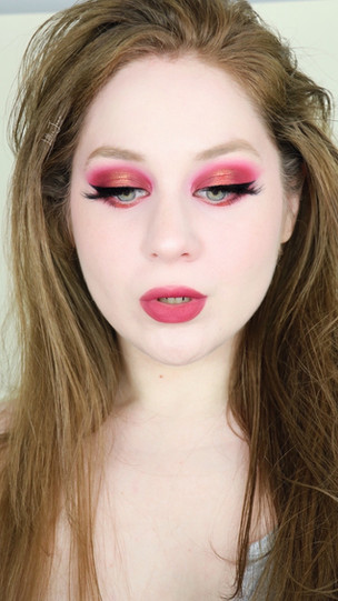 NARS Extreme Effects Raspberry Orange Halo Eye Makeup Tutorial 2021   Lillee Jean