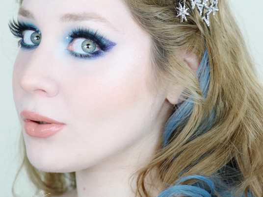 Too Faced KILLER LINER Blue Glitter New Years Makeup Tutorial 2020 | Lillee Jean