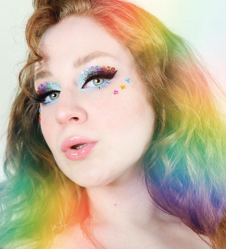 Lillee Jean Rainbow PRIDE Makeup Look