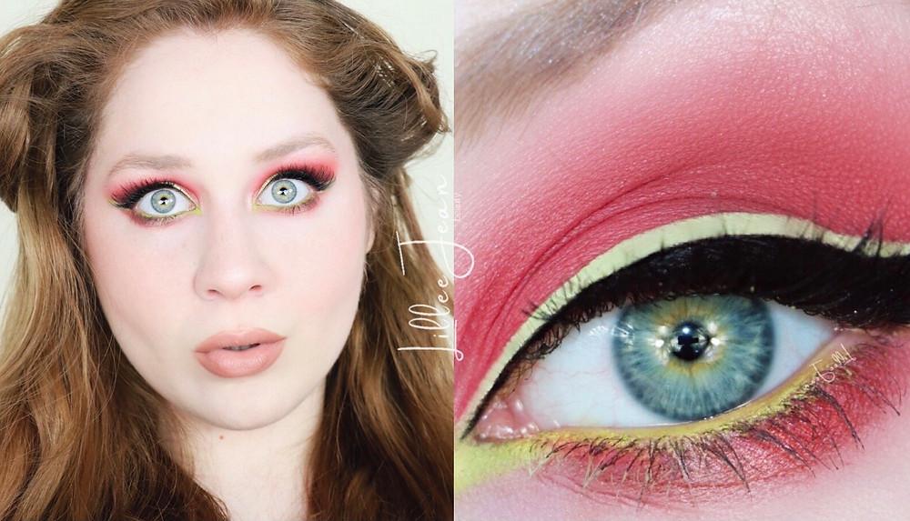 Makeup Revolution Red Alert and Green Liner DRUGSTORE Makeup Tutorial 2021 | Lillee Jean