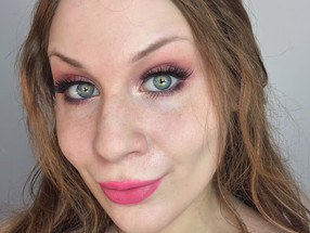 Valentine's Day: Romantic Peach & Pink Dewy Skinned Makeup Look