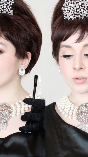 AUDREY HEPBURN Breakfast at Tiffany's COSPLAY Makeup Tutorial 2020 | Lillee Jean