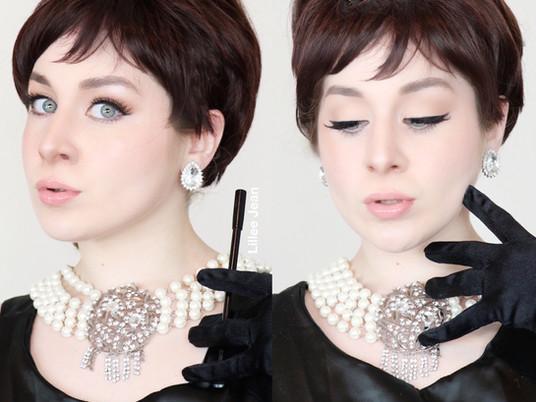 AUDREY HEPBURN Breakfast at Tiffany's Makeup Tutorial 2020   Lillee Jean