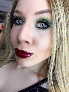 Power Puff Girls: Shimmery Green and Vampy Purple Buttercupcake Makeup Tutorial 2016 | Lillee Jean