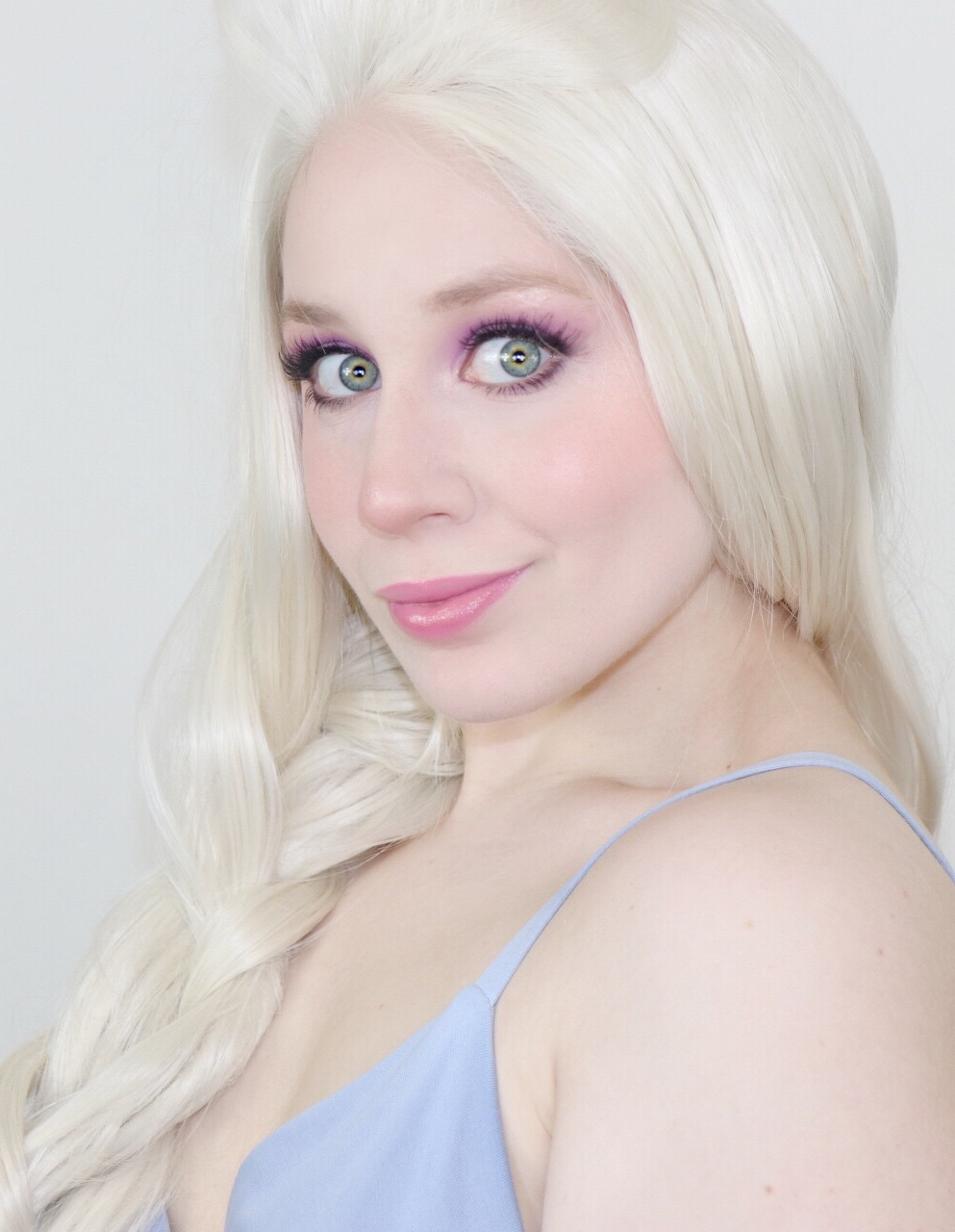 Elsa Frozen Pastel Purple Summer Makeup Tutorial Disney Cosplay 2020 | Lillee Jean