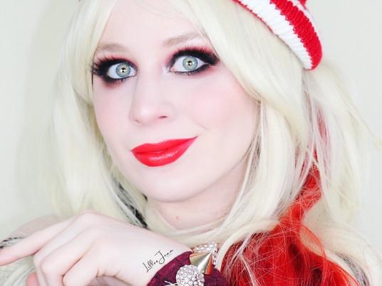Harley Quinn Arkham Holiday Makeup Tutorial | DC COMICS | Lillee Jean
