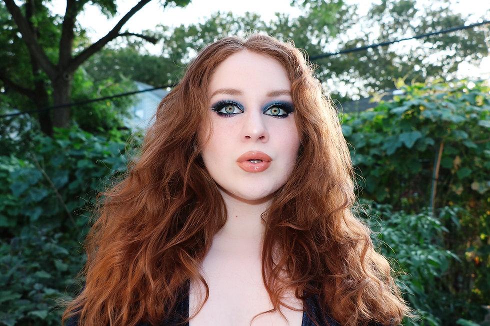 Lillee Jean Headshot Blue Velvet Autumn Lookbook 2021