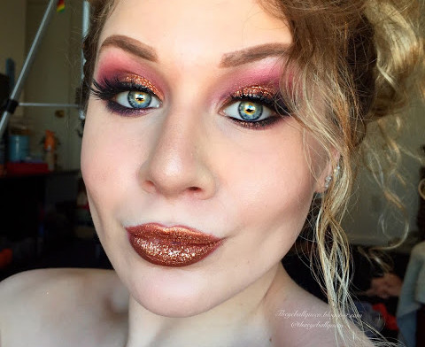 Glimmering Copper & Smoked Out Intensive Purple Makeup Tutorial