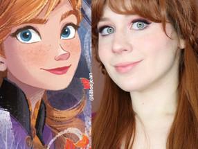 ANNA Frozen 2 Disney Spring Drugstore Makeup Tutorial Cosplay 2020 | Lillee Jean
