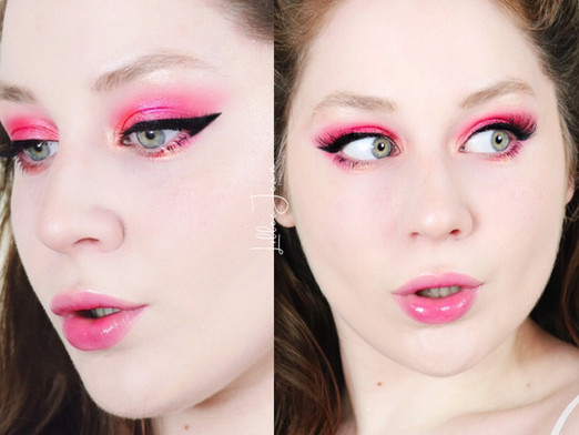 Hello Kitty Pink Smokey Makeup Tutorial 2021 | Lillee Jean