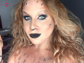 DC Comics Barbara Ann Minerva Cheetah Halloween Makeup Tutorial