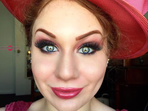 Transition Into Autumn: Glamorous Flirty Dark Burgundy and Vibrant Raspberry Makeup Tutorial