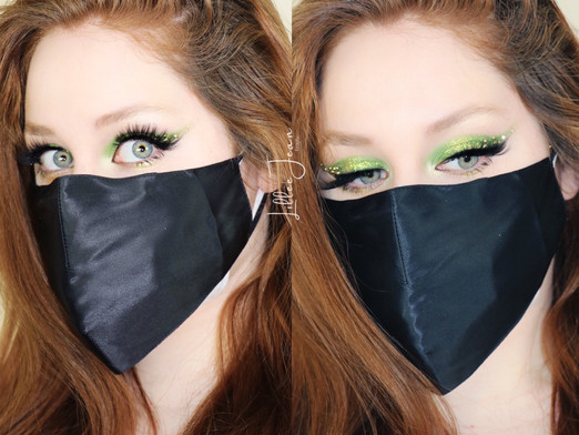 MASK Saint Patricks Day Green Glittery Makeup Revolution Paradise Makeup Tutorial 2021 | Lillee Jean