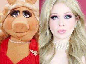Disney MISS PIGGY Muppets Purple GLAMOROUS Valentines Day Makeup Tutorial 2021 | Lillee Jean