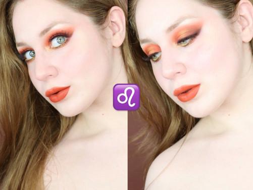 Leo Zodiac KARITY 21 Orange Smokey Eye Summer Makeup Tutorial 2020   Lillee Jean