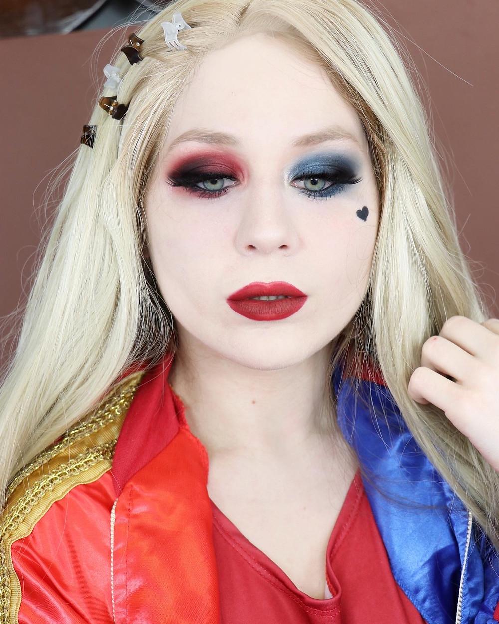 Harley Quinn Dramatic Smokey Eye Makeup Tutorial DC COMICS Cosplay 2020   Lillee Jean