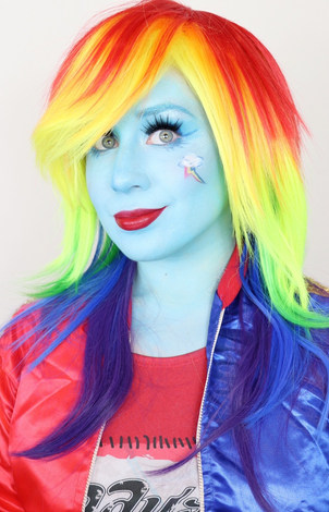 My Little Pony Rainbow Dash Cosplay by Lillee Jean