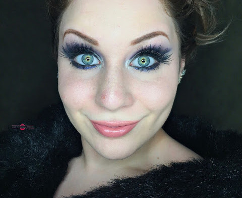 Dramatic Deep Navy & Cream Cut Crease Makeup Tutorial