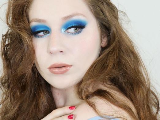 Karity 21 Matte VIBRANT ELECTRIC BLUE EYESHADOW Summer Makeup Tutorial 2020   Lillee Jean