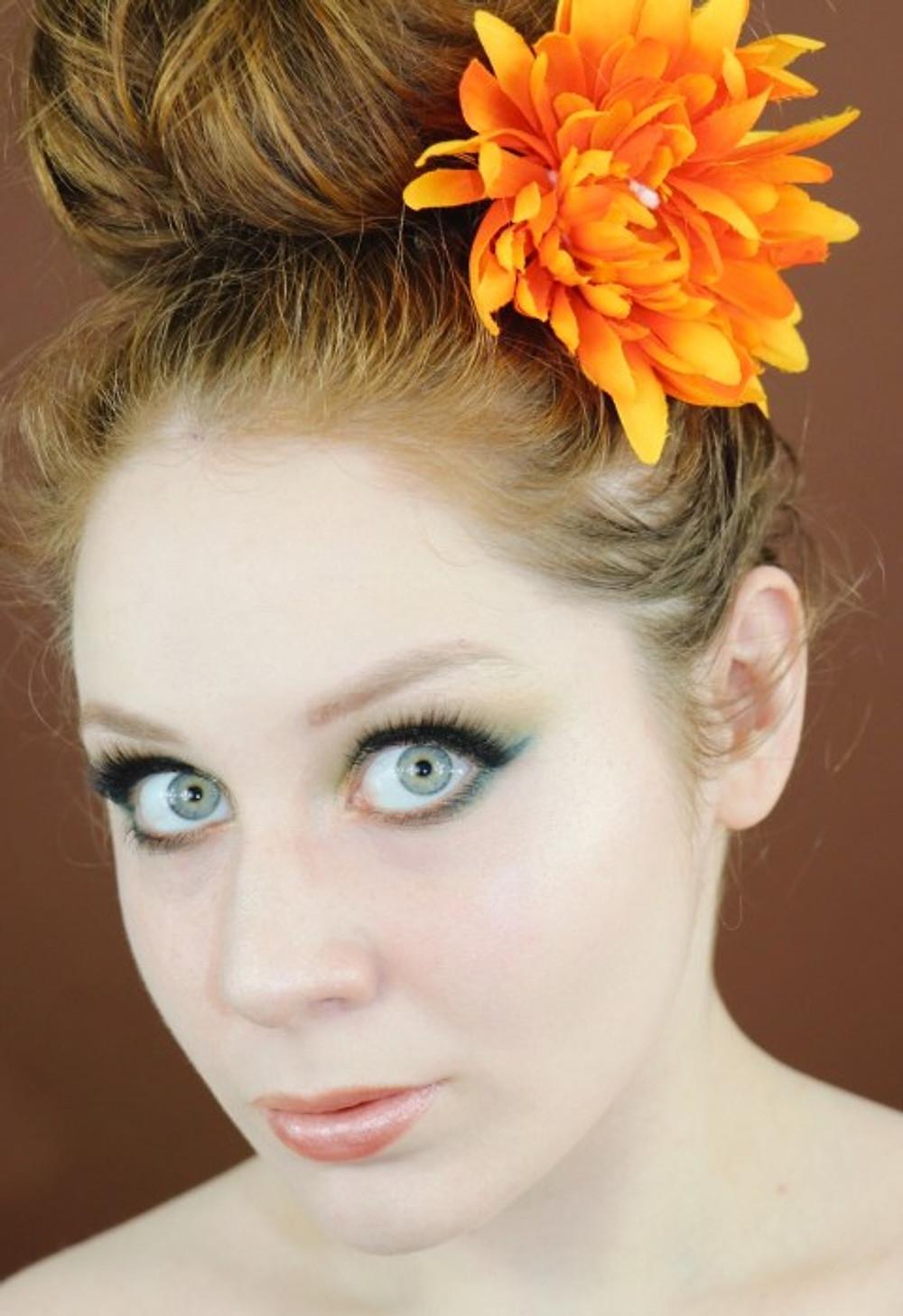 Natasha Denona Metropolis Palette Green and Rust Makeup Tutorial   Lillee Jean