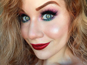 Disney's Princess Ariel Inspired Glittery Halloween Makeup Tutorial