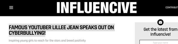 Lillee Jean Feautred in Influencive.com_