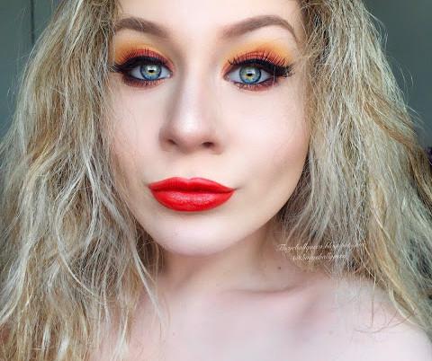 Springy Orange Smokey Eye Leo Zodiac Makeup Tutorial 2016 | Lillee Jean
