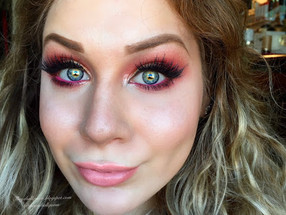 Anemone Pamina: Grungy Red and Shimmering Yellow Blown Out Smokey Eye Makeup Tutorial