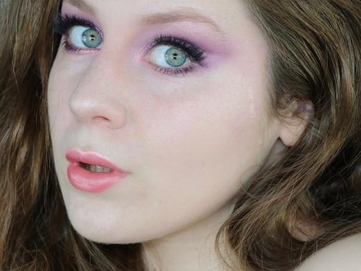 Huda Beauty Amethyst Obsessions Glittery Purple Cut Crease Makeup Tutorial | Lillee Jean