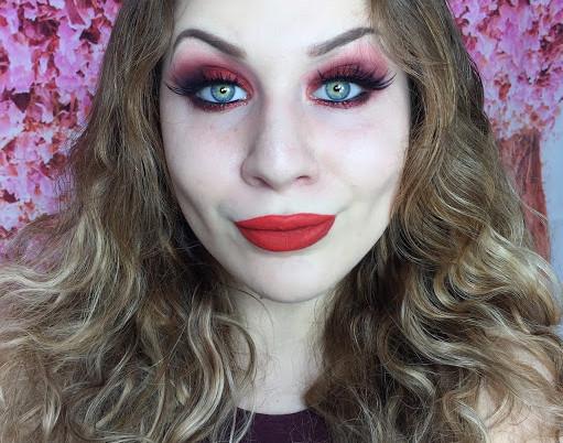 New Years Eve: Red Hot Glittery Smokey Eye Makeup Tutorial