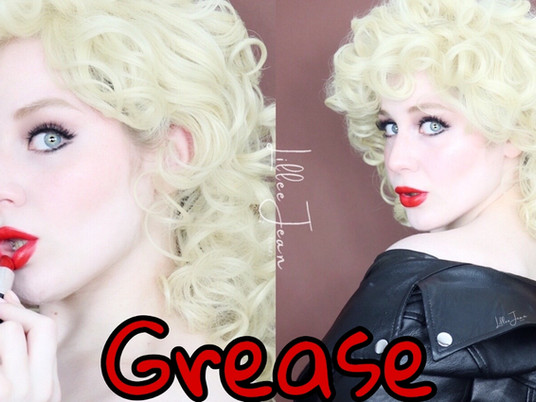 Grease Bad Sandy Makeup Tutorial | Edgy Eyeliner, Red Lipstick 2021 | Lillee Jean