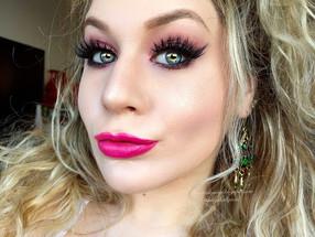 Power Puff Girls: Blossom Pink Spring Glitter Makeup Tutorial
