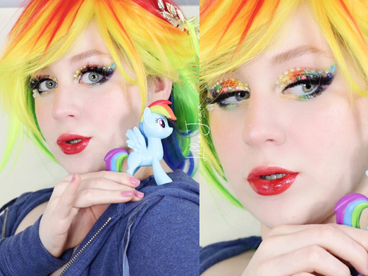 Rainbow Dash My Little Pony Spring Makeup Tutorial 2021 | Lillee Jean