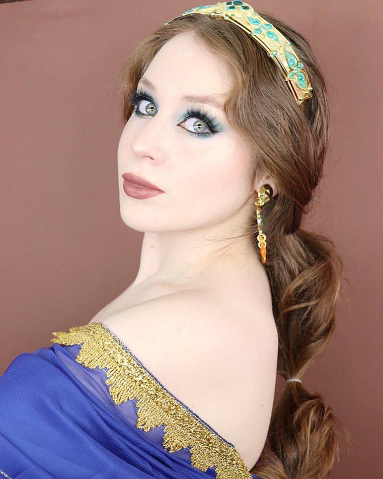 Disney's Aladdin JASMINE Inspired Teal Makeup Tutorial 2020 | Lillee Jean