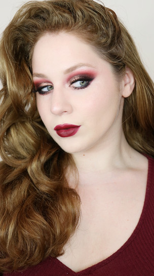 Essence Bonjour Montréal Red and Gold SMOKEY EYES Autumn Makeup Tutorial 2020 | Lillee Jean