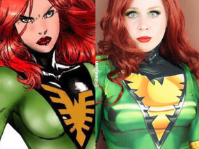 Marvel Jean Grey X-MEN Green Phoenix Cosplay Makeup Tutorial 2020 | Lillee Jean