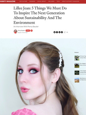 Lillee Jean INTERVIEW MEDIUM: Inspire The Next Generation About Sustainability And The Environment