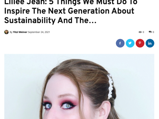 Lillee Jean (SOCIAL IMPACT HEROS) Interview: Inspire The Next Generation About Sustainability