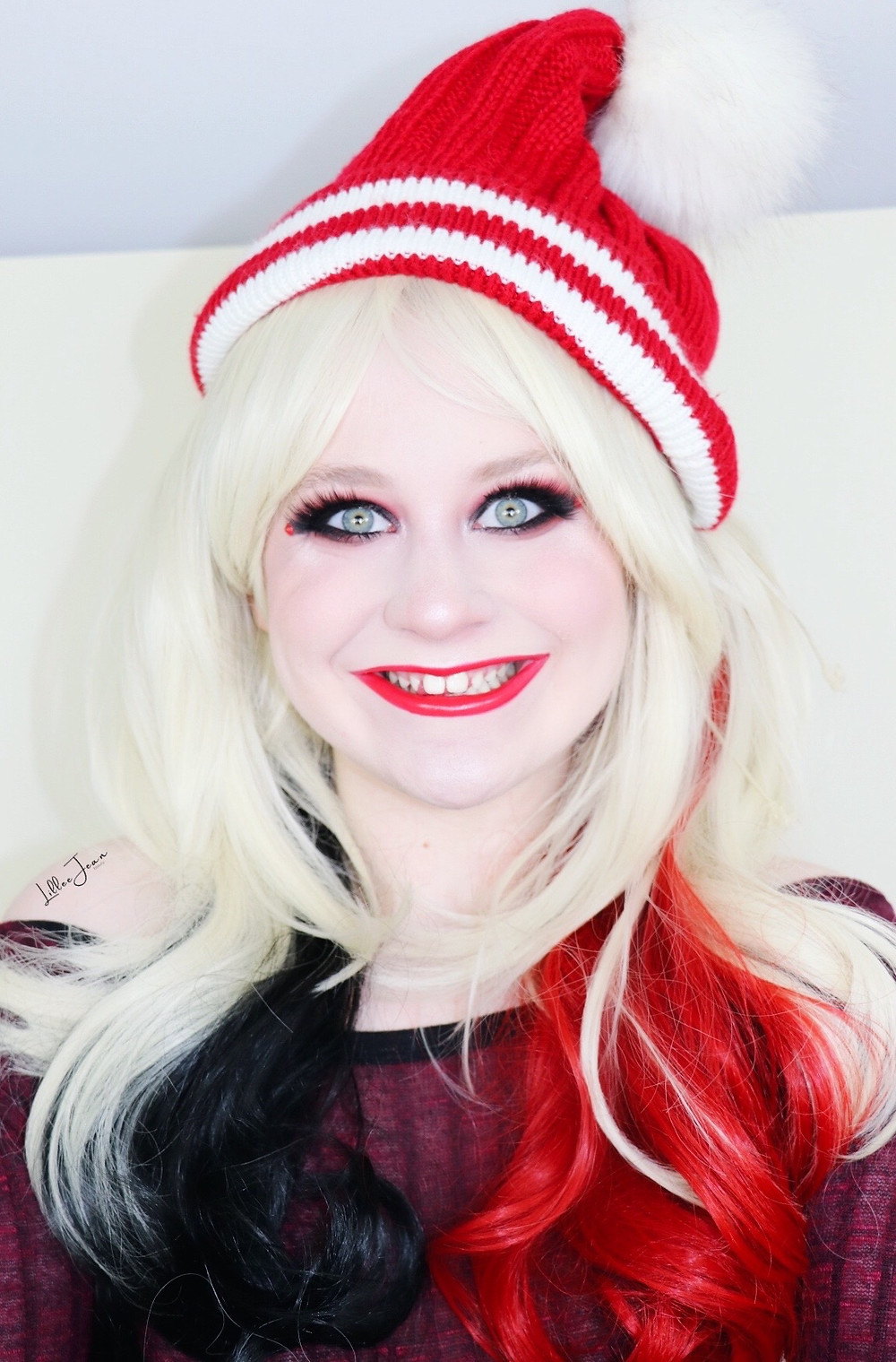 Harley Quinn Arkham Holiday Makeup Tutorial | DC COMICS | Lillee Jean