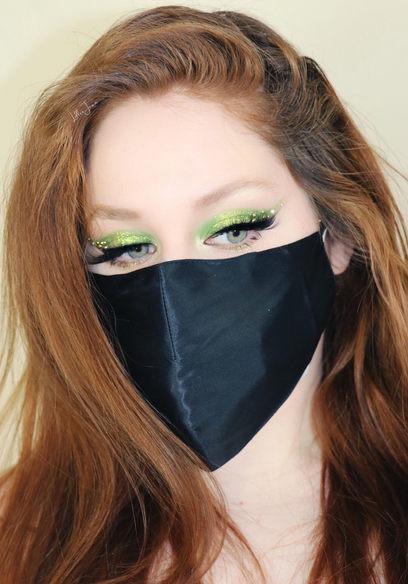 Lillee Jean Green Mask Makeup