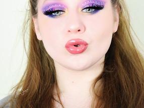 Karity 21 Matte GLITTERY Rhinestone Purple Blue EDITORIAL Makeup Tutorial 2021 | Lillee Jean