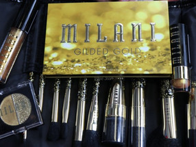 Milani Gilded Gold Eyeshadow Palette, 24 KARAT GOLD COLLECTION Swatches