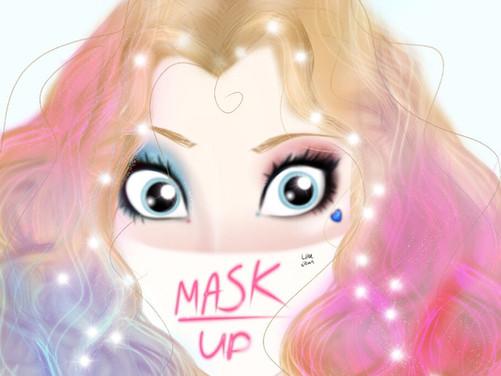 Harley Quinn WEAR A MASK Digital Speed Painting DC Comics 2020 | Lillee Jean