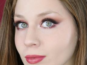 Tarte In Bloom Pink Valentine's Day Glitter Cut Crease Makeup Tutorial 2020   Lillee Jean