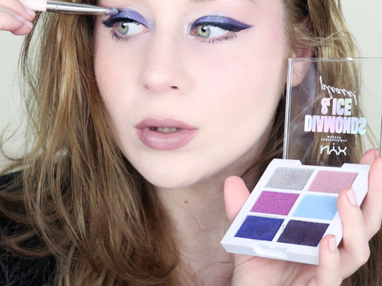 NYX Diamonds & Ice, Please! COOL TONED Wearable BLUE Holiday Glam 2020 | Lillee Jean